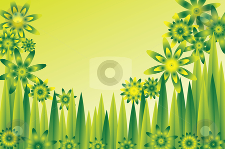 See clipart flower meadow Green stock vector flower Green
