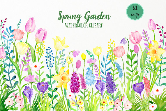 See clipart flower meadow  digital Clip Art is