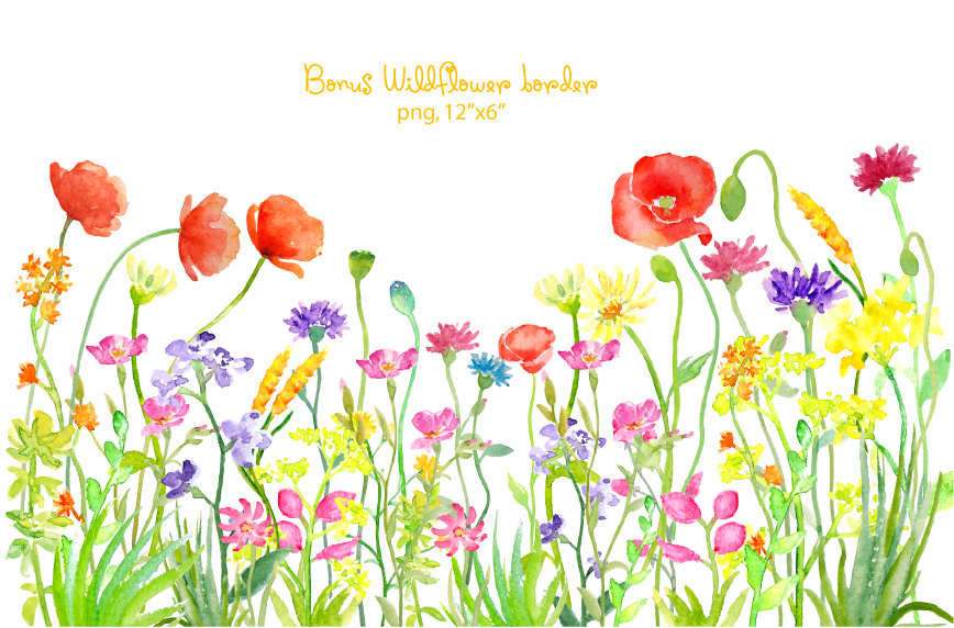See clipart flower meadow Digital clipart Wild is This