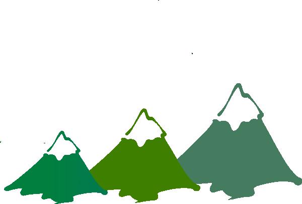Mountain clipart cartoon Vector Clip Peaks Art art