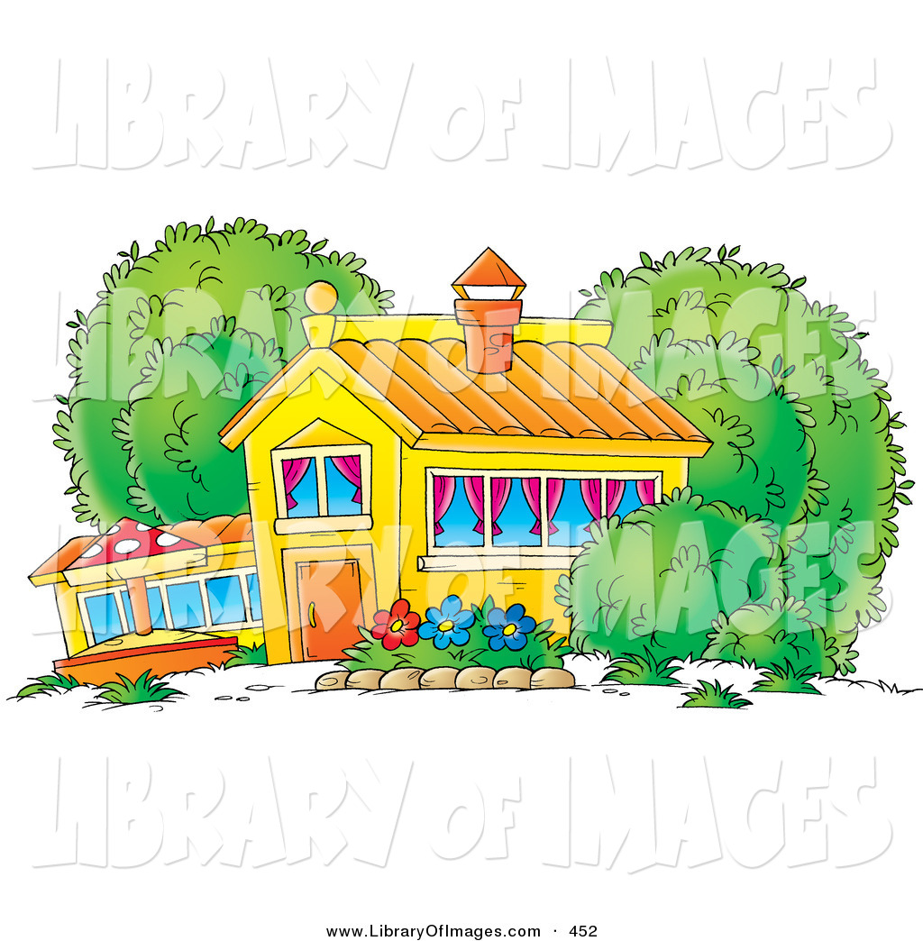 Cottage clipart house garden A or Home the Colorful