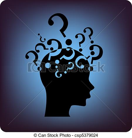 Brains clipart question mark Of Vector Question csp5379024 EPS