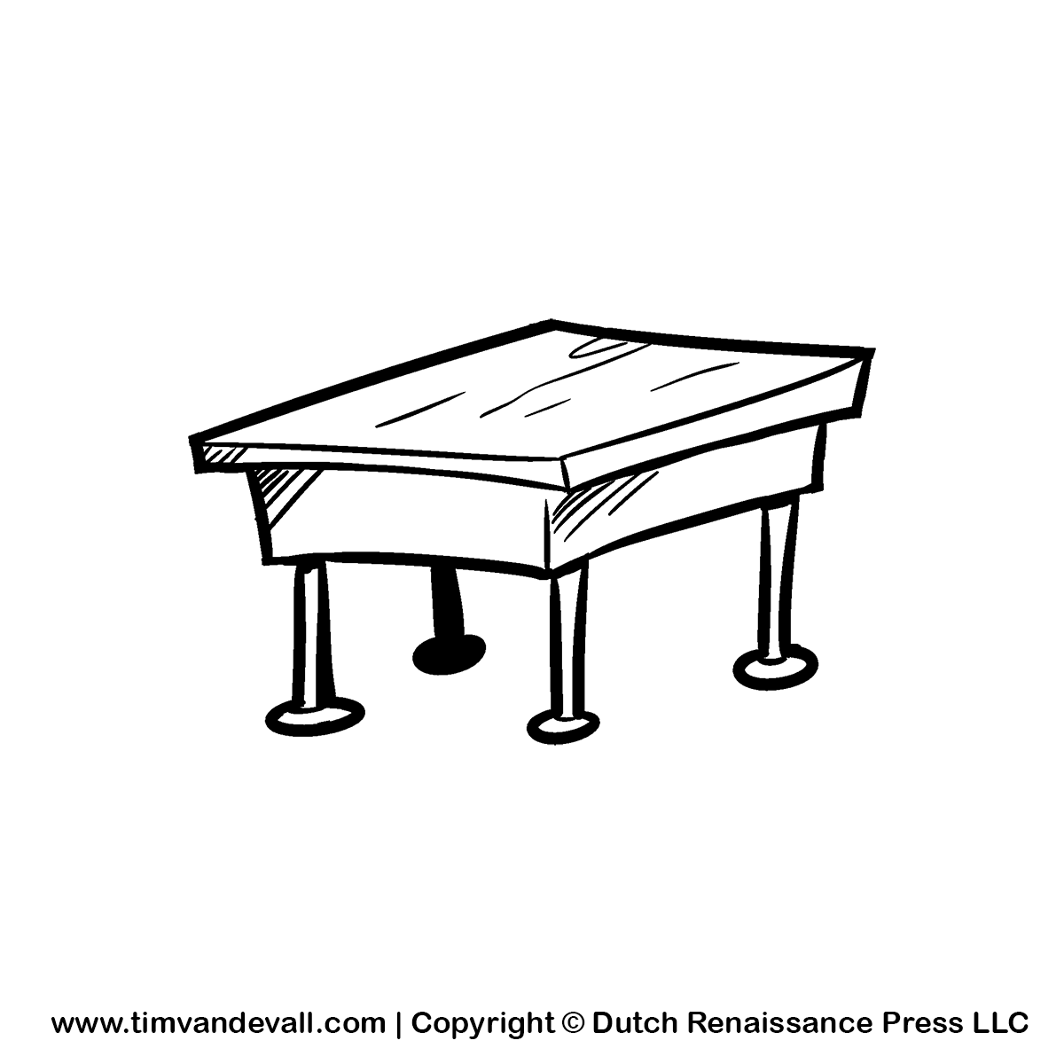 Desk clipart draw Ideas For Humbling Modern Clipart