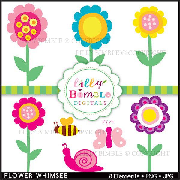 See clipart modern Flower Art  Flowers Whimsical