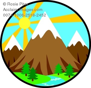 Wilderness clipart mountain scenery The Image Rising Behind Landscape