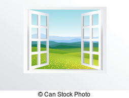 Door clipart square window And Open EPS nature