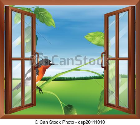 Window clipart outside window View bird the window An