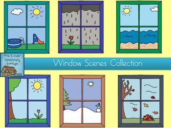 Window clipart outside window Outside Download Outside Window Scene