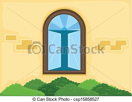 Window clipart outside window Csp15858527 House Window Outside Window