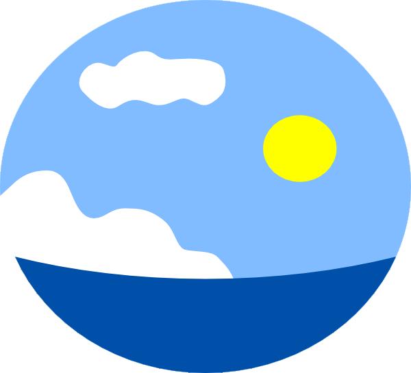 Seaside clipart ocean scene #4