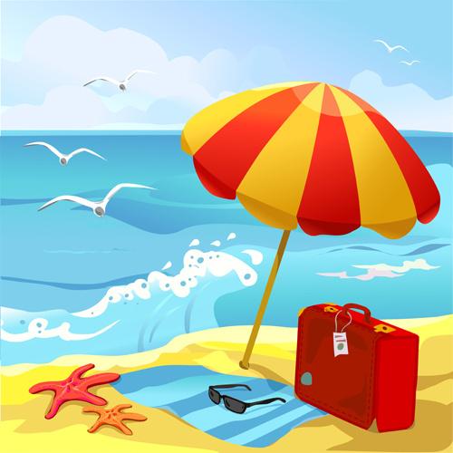 Travel clipart beach Summer Beach Art Clipart Beach