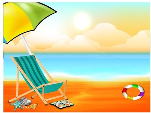 Beach clipart beach background Free beautiful  273 download