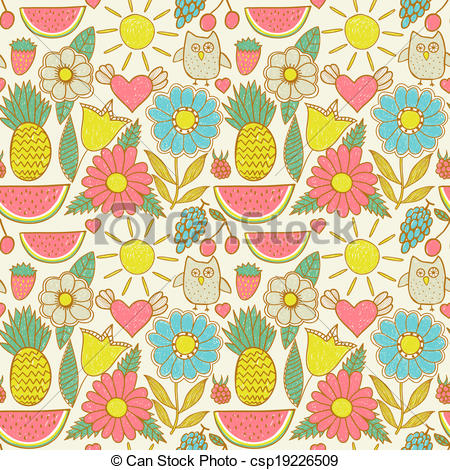 See clipart summer wallpaper Seamless texture wallpaper theme of