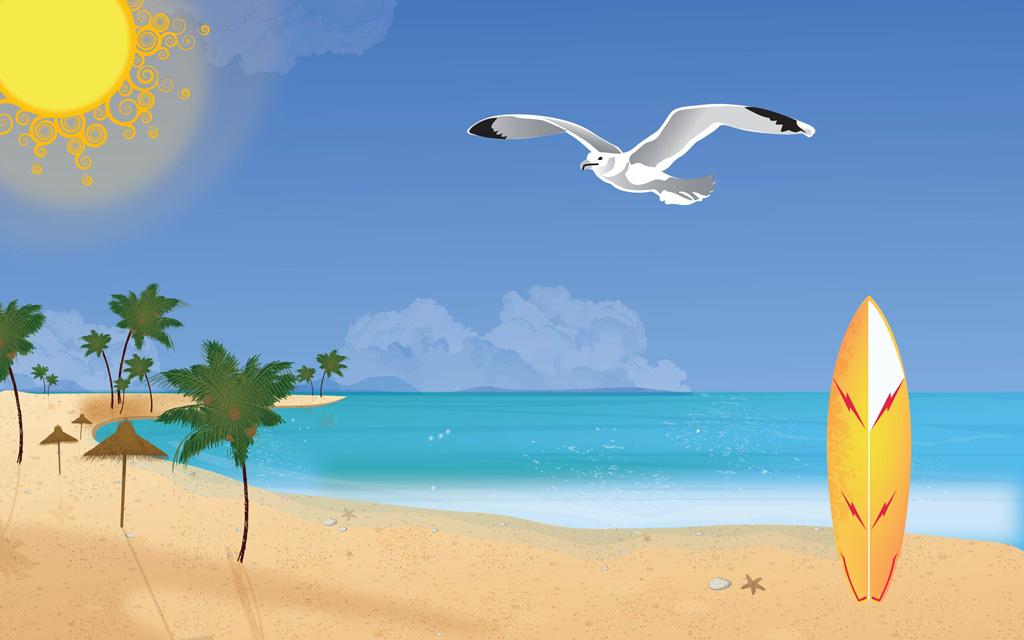 Summer clipart summer wallpaper #11