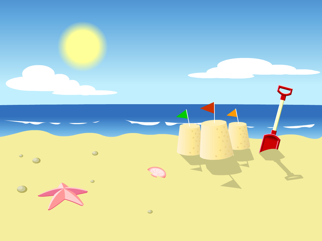 See clipart summer wallpaper On Beach Cartoon photo this