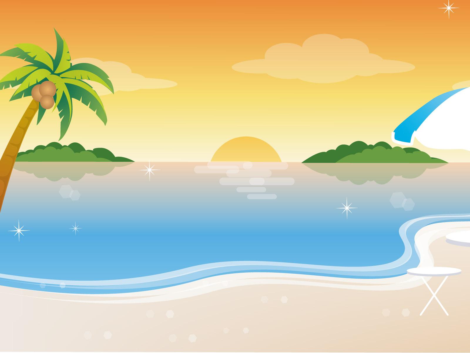 Sea clipart beach background #5
