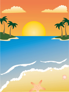 See clipart sun beach Clipart Clip Beach of scene