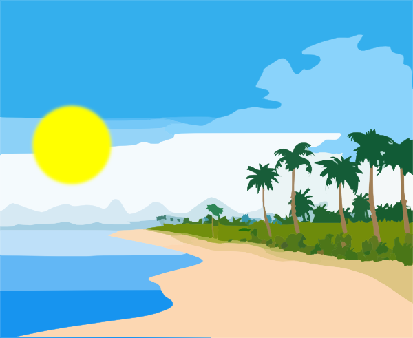 See clipart sun beach At as: Download 3 online