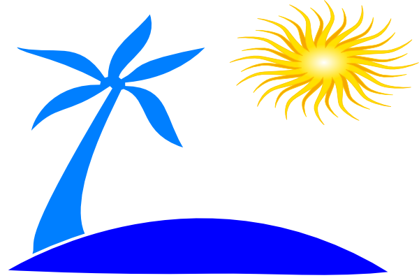 See clipart sun beach W/sun as: Download Palm vector