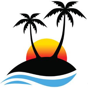 See clipart sun beach Art Sun Related Half Cliparts