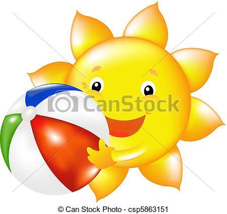 See clipart sun beach Of Ball Sun Vector Sun