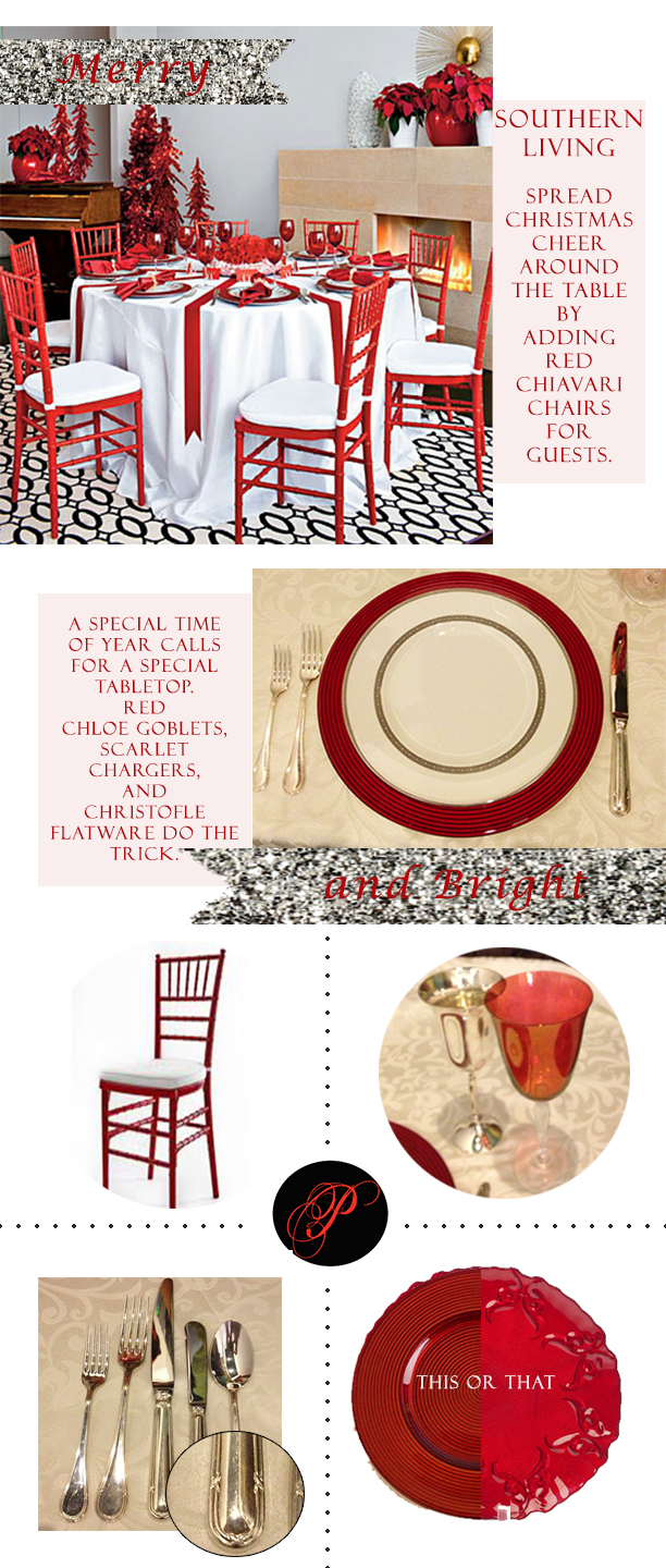 See clipart table top (See Christmas chiavari red Rentals