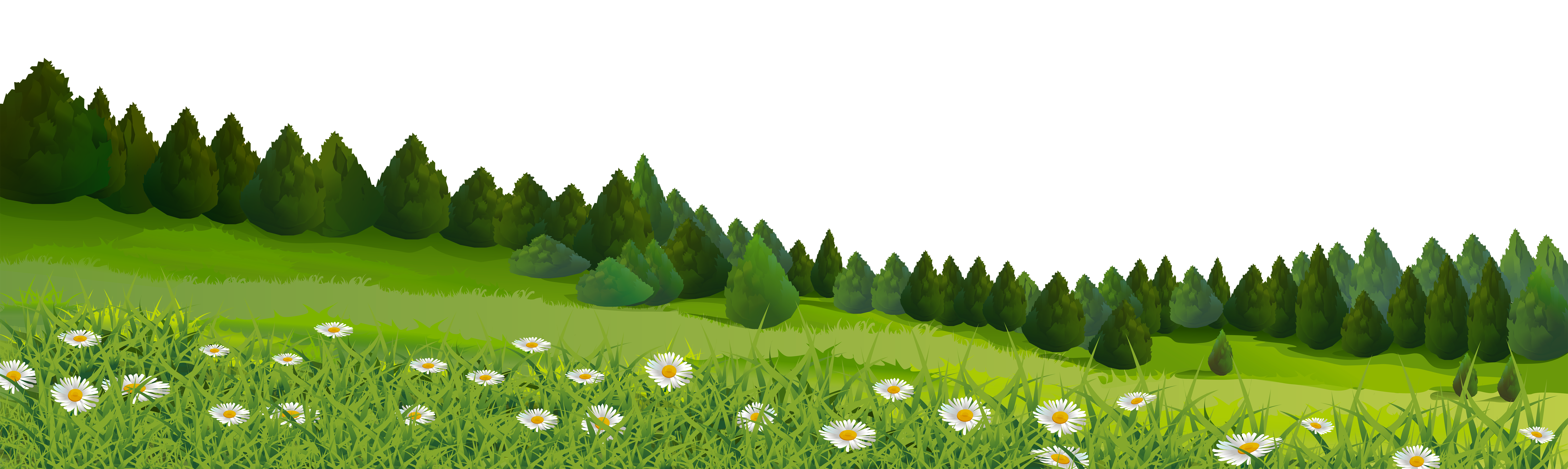 See clipart tree grass #10