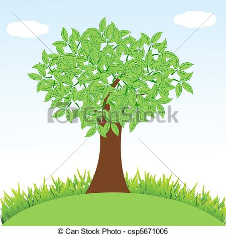 See clipart tree grass Tree grass tree with Vector