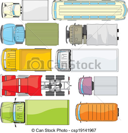 See clipart truck top Truck trucks bus colour Vector