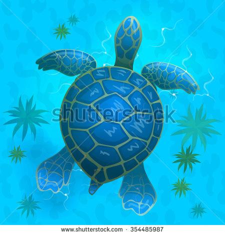See clipart turtle top Under app vector sea cartoon