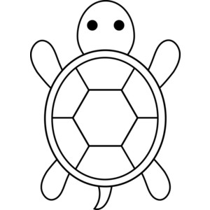 Simple clipart turtle #3