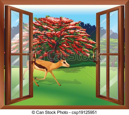 Window clipart outside window Of  view A window