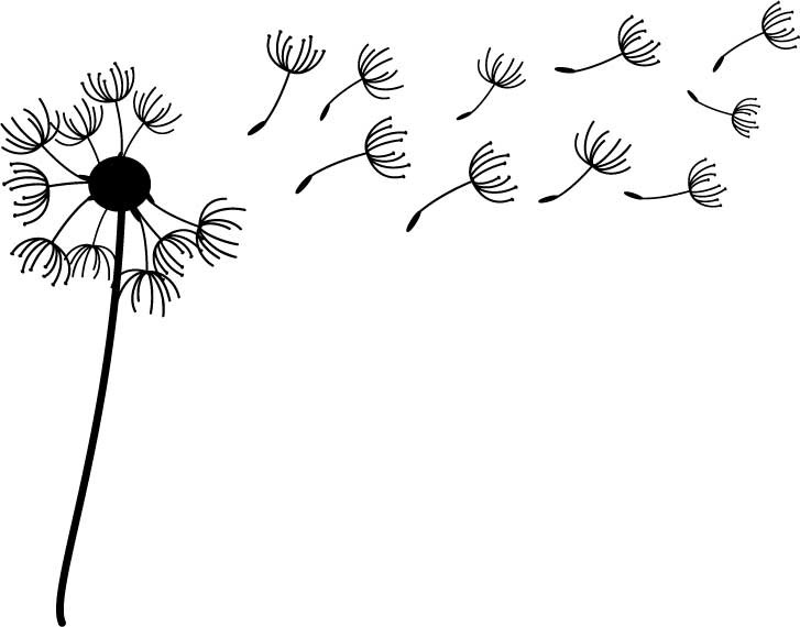 Seeds clipart dandelion Blow collection Art Clipart seed