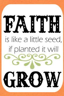 Seeds clipart faith Seed Faith  Printable Packet