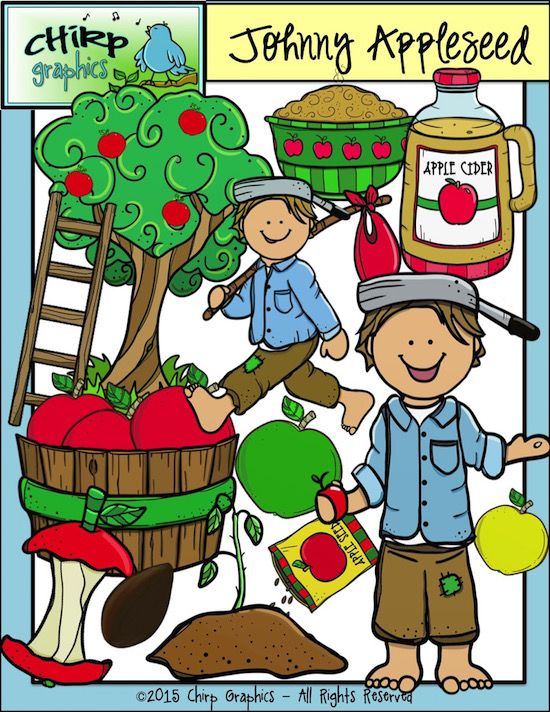 Seeds clipart johnny apple Chirp on Apple 25+ Clip