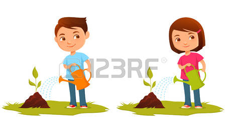 Seed clipart kid plant With All Seeds Clipart Watering