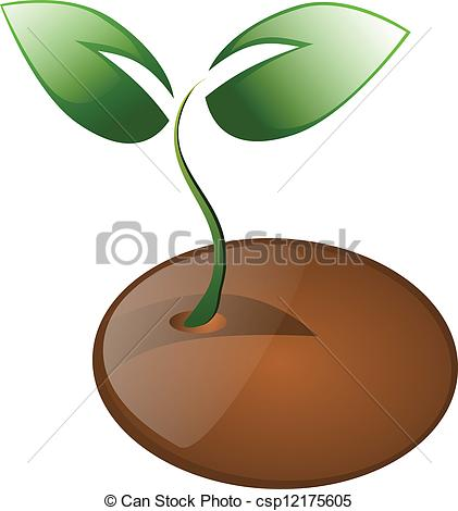 Seeds clipart little plant Vector seed of Little isolated