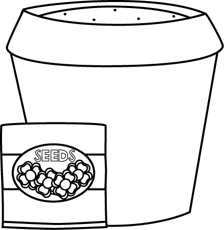 Seed clipart outline White Free with Clip and