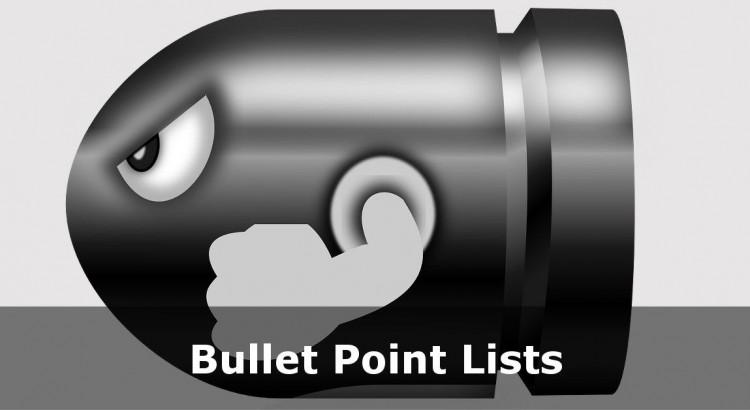 Bullet clipart html Tutorial Bullet Tutorial Point and