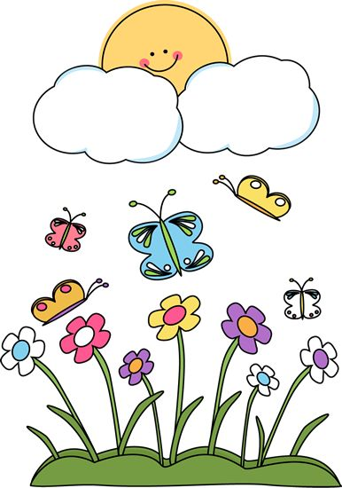 Clouds clipart spring Spring 34 on best Happy