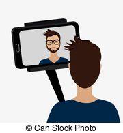 Selfie clipart Illustrations Stock  Selfie 5