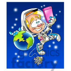 Selfie clipart cartoon character #4
