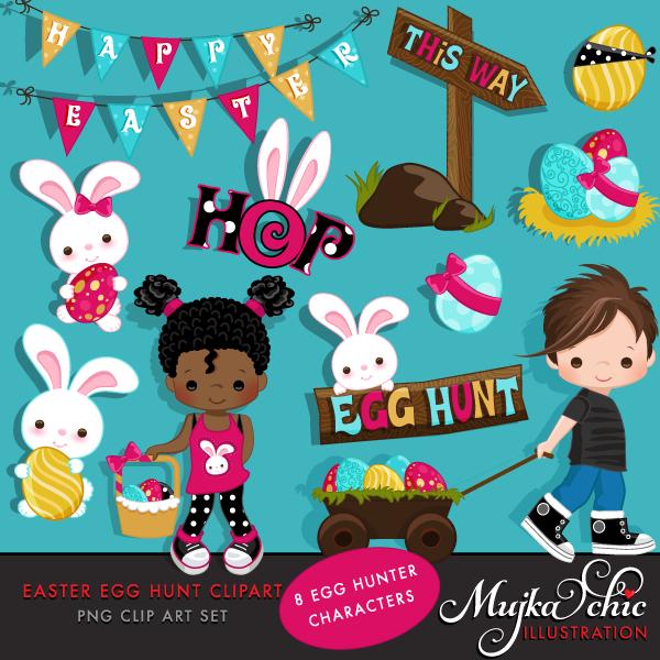 Sensen clipart easter egg hunt & Commercial Graphics EGG Design