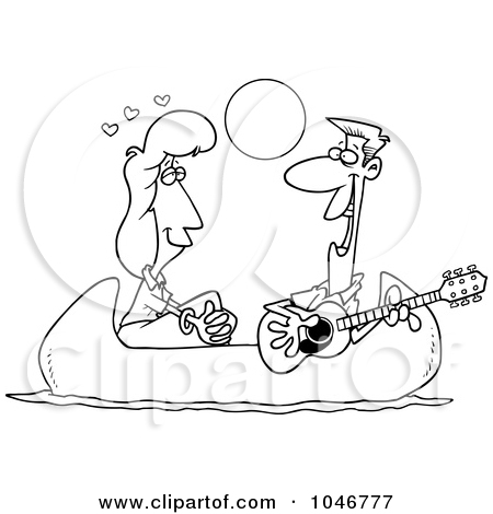 Serenade clipart black and white Black Clipart Canoe Images White