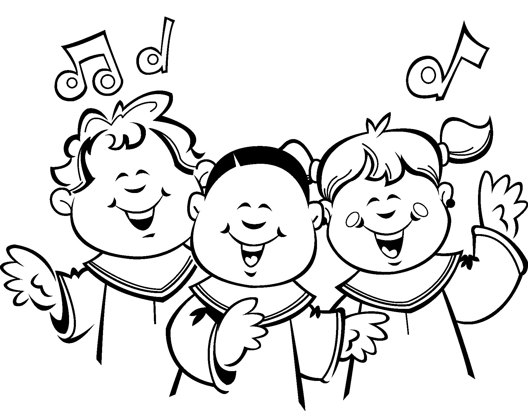 Singer clipart youth choir Sketch 3 Choirs coloring page