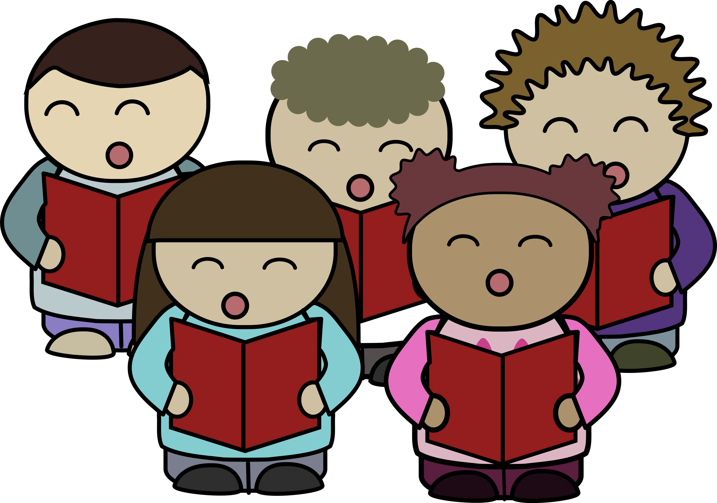 Singer clipart kid public speaking Choir choir Art singing Clip