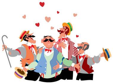 Serenade clipart group singing Valentine's jpg Barbershop Day MLive
