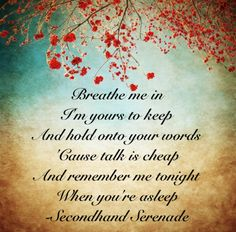 Serenade clipart love quote Tell from born you love