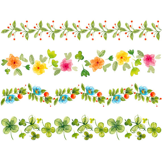 Water Color clipart watercolour Borders  watercolor watercolor Floral