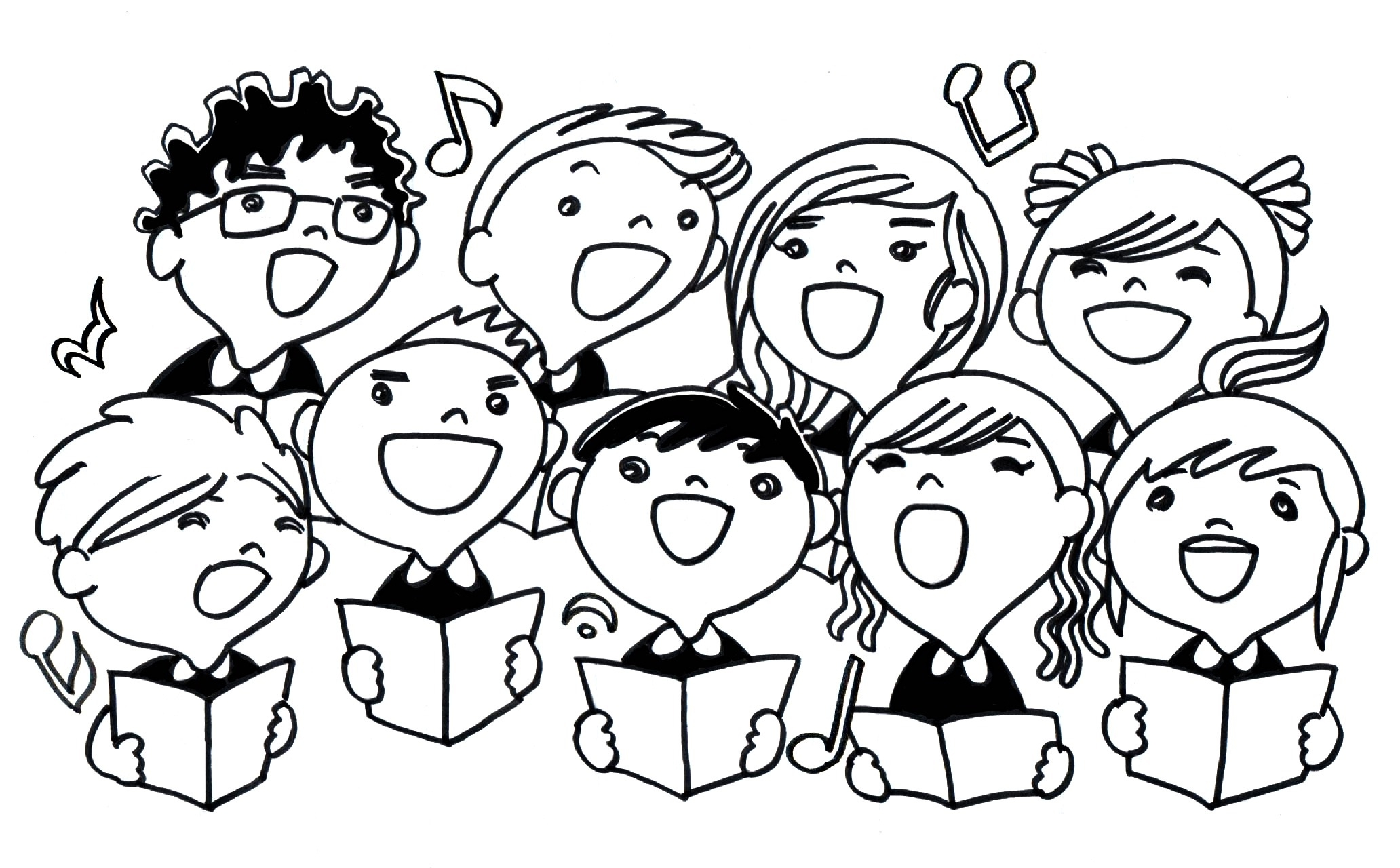 Serenade clipart school choir Clipart anniversary clipart Clipartix Choir